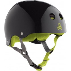 Casco Triple 8 Sweatsaver Black Glossy Green
