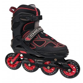 Patines Ajustables Chicago SS172A-BW Black Red