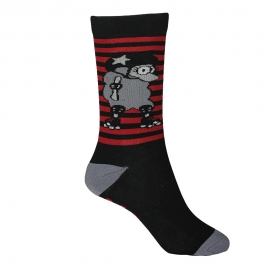 Calcetas oBeja Roller Stripes Black And Red